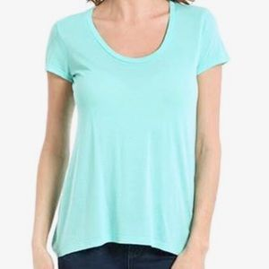 Splendid Scoop Neck Mint Green T-shirt